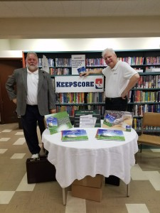 "KeepScore was invited to attend a book signing session at the Carnegie Free Library in Beaver Falls, PA. Co-founders Thomas ""TJ"" Lane and Kevin Lane signed their books with their signature slogan: Swing for the fences...and always KeepScore!"